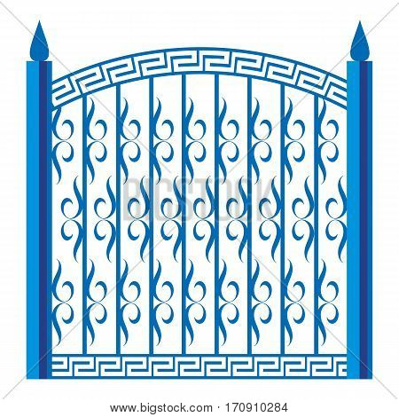 Forged gate icon. Cartoon illustration of forged gate vector icon for web