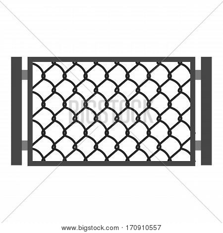 Perforated gate icon. Cartoon illustration of perforated gate vector icon for web