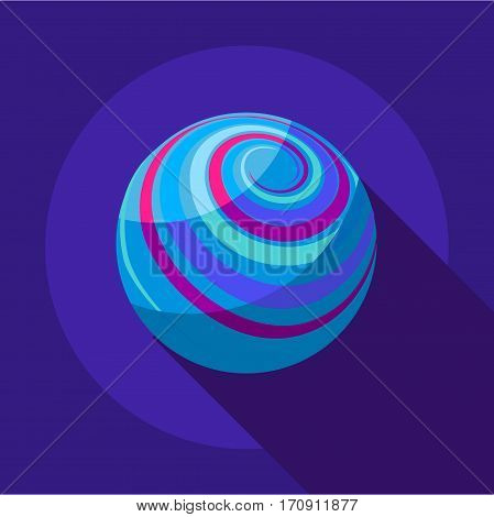 Far away planet icon. Flat illustration of far away planet vector icon for web