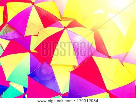 Close up beautiful abstract of umbrella background
