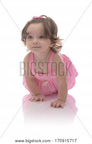 Adorable Crawling Girl