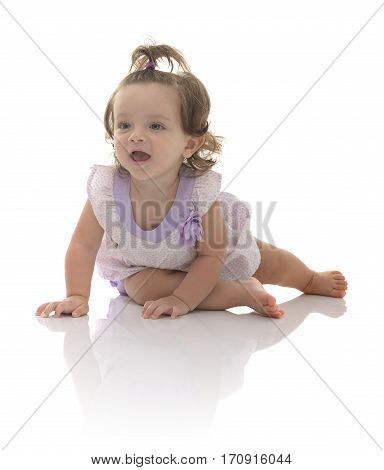 Beautiful Crawling Girl