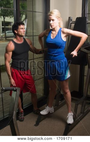 Man And Woman Exercising 12