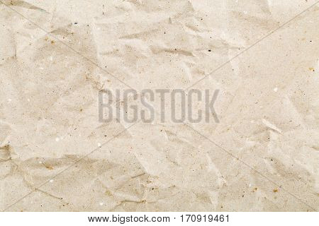 Crumbled beige empty clean paper texture background