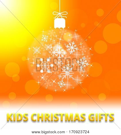 Kids Christmas Gifts Shows Xmas Presents 3D Illustration