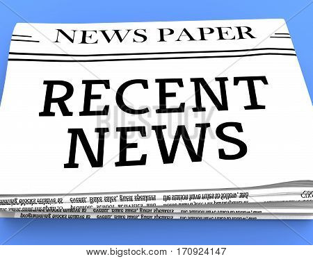 Recent News Shows Latest Newspapers 3D Rendering