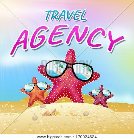 Travel Agent Represents Travels Agency 3D Illustration