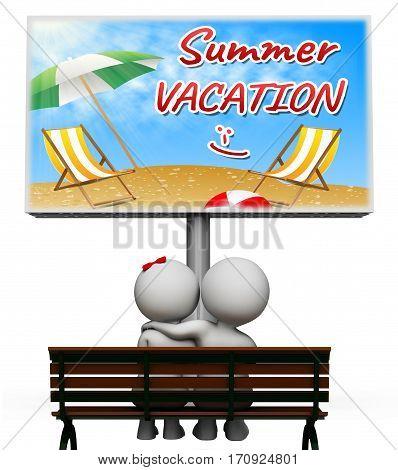 Summer Vacation Shows Vacation Season 3D Illustration