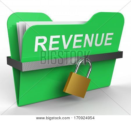 Revenue File Indicates Earning Gain 3D Rendering