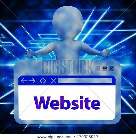 Website Webpage Meaning Browsing Internet 3D Rendering