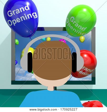 Grand Opening Balloons From Computer 3D Rendering