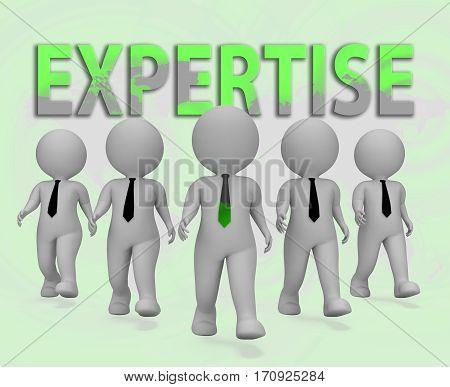 Expertise Businessmen Representing Master Skills 3D Rendering