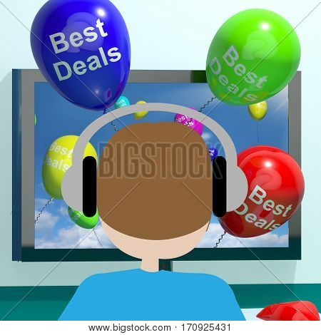 Best Deals Balloons From Computer 3D Rendering