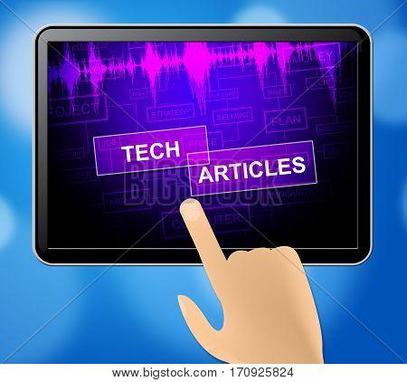 Tech Articles Means Technology Publication 3D Illustration