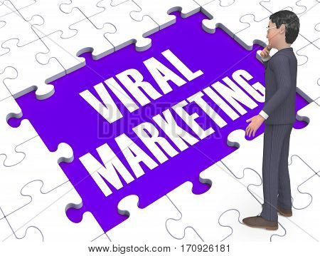 Viral Marketing Showing Advertising Strategies 3D Rendering