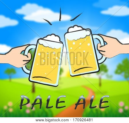 Pale Ale Showing Light Beer Or Malt