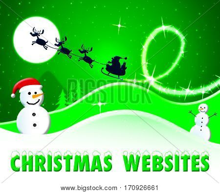 Christmas Websites Shows Xmas Site 3D Illustration