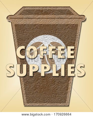 Coffee Supplies Shows Product Supply Or Supplier