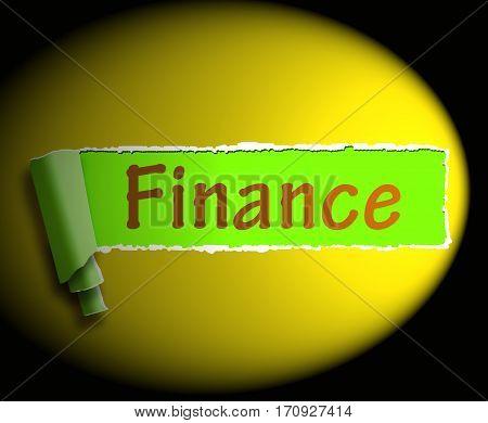 Finance Word Shows Online Lending 3D Rendering