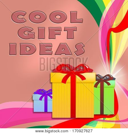 Cool Gift Ideas Showing Great Present 3D Illustration