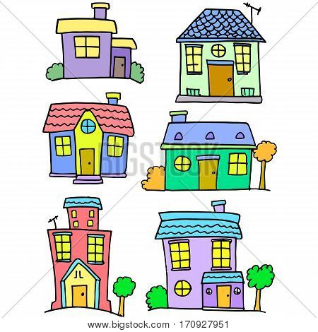 House set vector art colorful collection stock