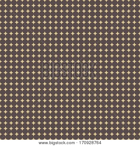 Seamless geometric pattern. Modern ornament with golden stars