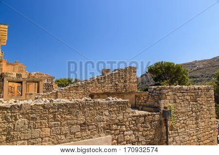 The ruins of the Minoan palace in Crete
