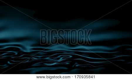 3D Illustration Abstract Turquoise Background Silk Cloth