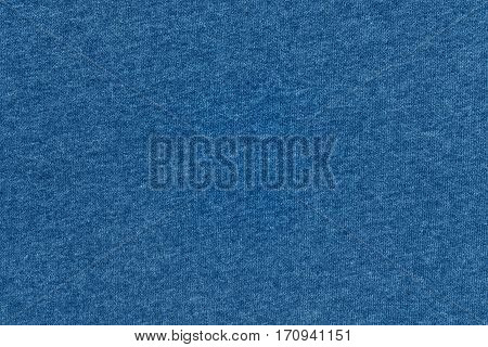 abstract background and texture of jersey or knitted textile fabric of blue color