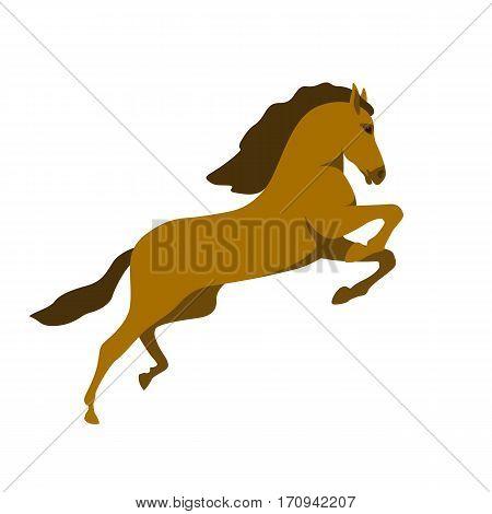 horse vector illustration style Flat profile side