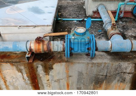 plumbing main tube and water leak old tap pipe steel rust