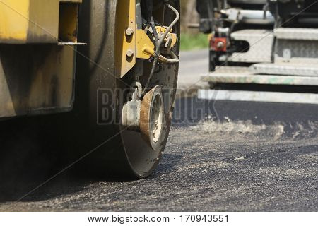 Repair and reconstruction of asphalt road in the city