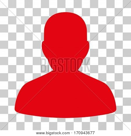 User Account icon. Vector illustration style is flat iconic symbol intensive red color transparent background. Designed for web and software interfaces.