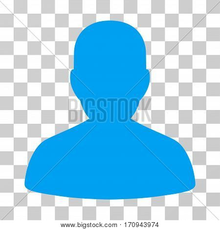 User Account icon. Vector illustration style is flat iconic symbol blue color transparent background. Designed for web and software interfaces.