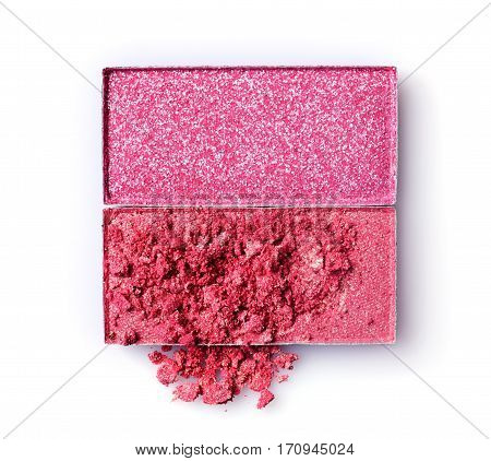 Pink Crushed Eyeshadow For Make Up As Sample Of Cosmetic Product