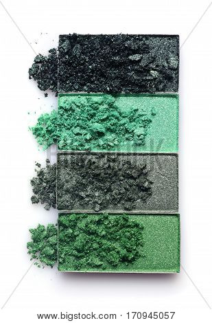 Green Crashed Eyeshadow For Makeup As Sample Of Cosmetic Product