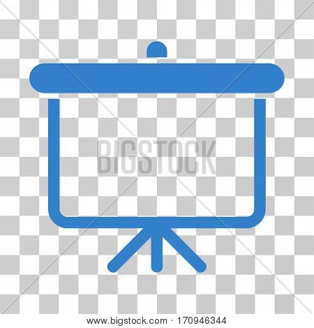 Projection Board icon. Vector illustration style is flat iconic symbol cobalt color transparent background. Designed for web and software interfaces.