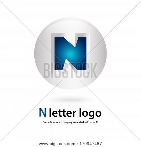 circle 3d n letter logo 100% vector fully editable and re sizable suitable  for which letter is beginning with letter n