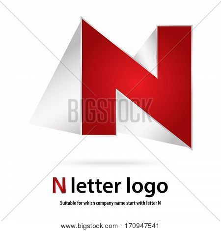 3d n letter logo 100% vector fully editable and re sizable suitable for which letter is beginning with letter n