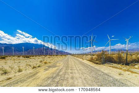Wind turbines outside Palm Spring, CA