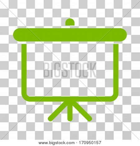 Projection Board icon. Vector illustration style is flat iconic symbol eco green color transparent background. Designed for web and software interfaces.