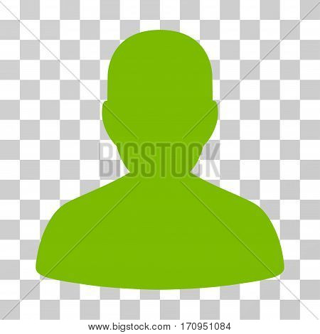 User Account icon. Vector illustration style is flat iconic symbol eco green color transparent background. Designed for web and software interfaces.
