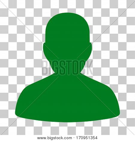 User Account icon. Vector illustration style is flat iconic symbol green color transparent background. Designed for web and software interfaces.