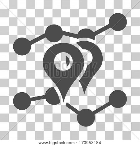 Geo Trends icon. Vector illustration style is flat iconic symbol gray color transparent background. Designed for web and software interfaces.
