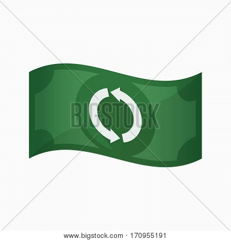 Isolated Bank Note With A Round Recycle Sign