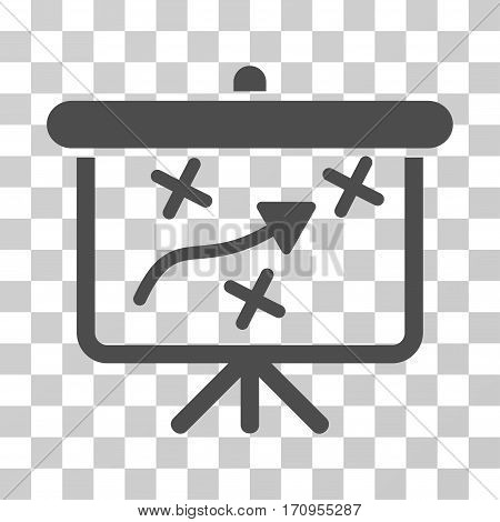 Strategy Path Demonstration Board icon. Vector illustration style is flat iconic symbol gray color transparent background. Designed for web and software interfaces.