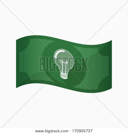 Isolated Bank Note With A Light Bulb
