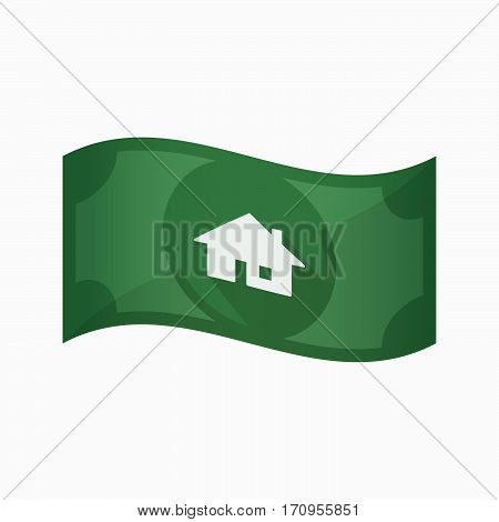 Isolated Bank Note With A House