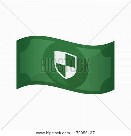 Isolated Bank Note With A Shield