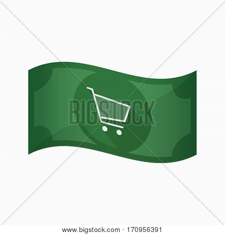 Isolated Bank Note With A Shopping Cart
